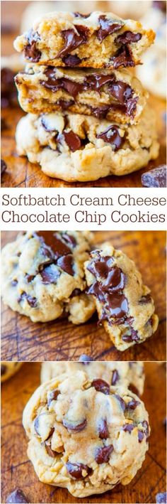 Soft Cream Cheese Chocolate Chip Cookies! Yuuuum Remeber, dont just save...hit that like button! #Food #Drink #Trusper #Tip