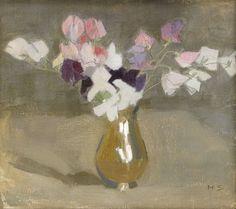 Sweet Peas - Helene Schjerfbeck 1908 Finnish Oil on canvas, 35 x 40 cm. Sale Artwork, Colorful Art, Art Painting, Floral Painting, Helene Schjerfbeck, Artist Inspiration, Floral Art, Still Life Art, Painting