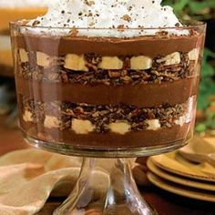Pudding czekoladowo-bananowy