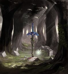 The master sword. Gosh I love these pieces of art *-*