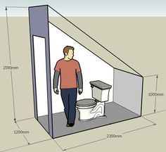 Resultado de imagen de toilet under the stairs Ergebnis der Toilette unter der Treppe – This. Small Attic Bathroom, Bathroom Under Stairs, Loft Bathroom, Bathroom Layout, Toilet Under Stairs, Bathroom Ideas, Attic Bedroom Designs, Attic Bedrooms, Attic Design
