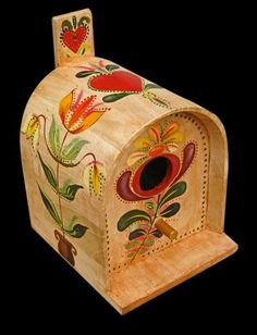 Mailbox Birdhouse with Pennsylvania Dutch Design by KrugsStudio, $34.99