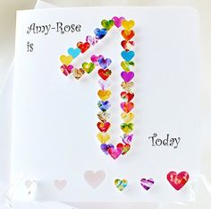 28 Delightful One Year Old Girl Birthday Cards Images