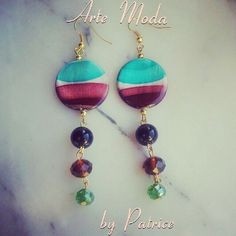 Collezione Patrice creation:modello Remember. ..orecchini in madreperla e pietre colorate...per info : patriceartemoda@gmail.com ...#earrings#by#patrice#artemoda#creation#bijoux#handmade#style#outfit#designer#stylist#fashion#madeinitaly#love#moda#colors#zara#chanel#depop