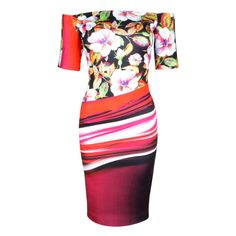 Robe à motifs tropical et abstrait. 355 $ #CLOVERCANYON Tropical and abstract printed dress. Espace Urbain