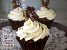 Chocolate Lavender Cupcakes #vegan #earthbalance