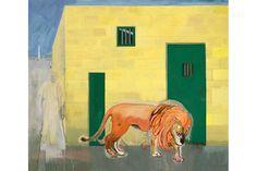 "Peter Doig, ""Rain in the Port of Spain (White Oak)"", 2015. Distemper on linen, 118 1/2 x 138 1/2 inches, 301 x 352 cm"