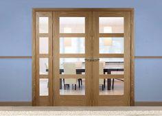 Easi-Frame Oak Room Divider Door System - Internal Room Dividers
