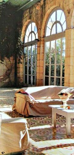 Travelling - Chateau Sun Room, Burgundy, France
