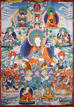Guru Rinpoche with his eight manifestations
