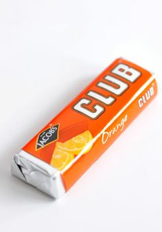 """If you like a lot of chocolate on your biscuit join our...Club."" Orange Club Biscuit"