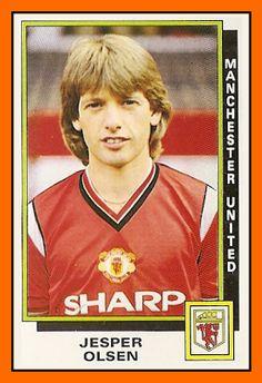Old School Panini: UK Football Team//Jesper Olsen Manchester United 1986