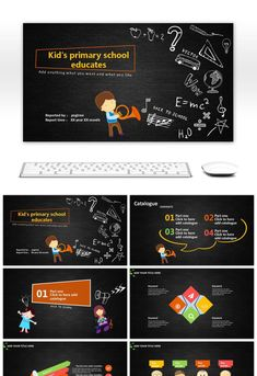 The PPT Template For Primary School Education In The Blackboard Hand-painted School Ppt Template, Templates, Primary School Education, Office Cartoon, Heart Nail Designs, E Mc2, Blackboards, Presentation Design, Worksheets