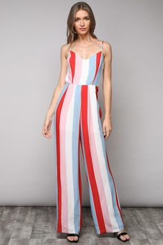 d02ea4860d A rainbow stripe jumpsuit is perfect for any occasion! Striped Jumpsuit