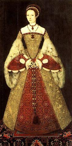 Ilustração do requinte das vestes usadas na época do renascimento, feitos em tecidos de primeira qualidade e cheios de adornos.