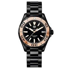 Tag Heuer Women's Aquaracer Quartz Black Band Black Dial