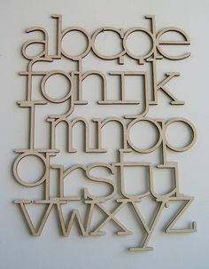 birch wood alphabet...love