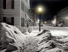 Silent Night, Woodstock, Vermont (colorized): 1940, uncredited.  Shorpy Historical Photo Archive.