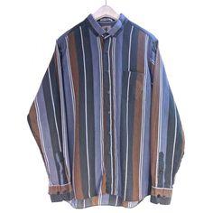 ボタンダウンストライプシャツ【chauvin】【1980's】VINTAGE B.D STRIPE SHIRTS - RUMHOLE beruf online store