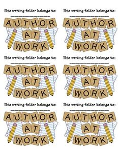 Printable Labels for Writing Folders {Free} by Mary Lirette Kindergarten Writing, Teaching Writing, Writing Activities, Work On Writing, Writing Ideas, Teaching Aids, Writers Workshop Folders, Writing Folders, Writer Workshop