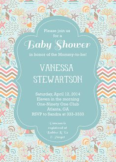 Ocean baby shower invitation under the sea baby shower invite sea ocean baby shower invitation beach baby shower invite shell baby shower ocean theme shower nautical sailboats filmwisefo