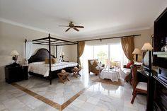 Guestroom of the Luxury Bahia Principe Cayo Levantado (All Inclusive) Samana Province, Dominican Republic Samana, Destinations, Beach Properties, Island Resort, All Inclusive, Location, Guest Room, Luxury, Bed