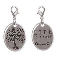 Life is A Great/Tree of Life Origami Owl dangle for your necklace www.facebook.com/origamiowlbymegan