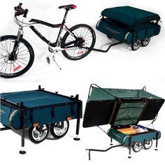 Tiny Houses:Small Spaces, Check out theMidget Bushtrekka Bike Trailer