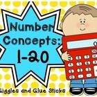 This 72 page packet includes:  My Little Number Book (1-20) -  each book contains an a color and number word trace activity, sticker the number act...