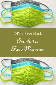 Crochet a Face Warmer – Diy Surgical Mask Free Pattern Gilet Crochet, Crochet Mask, Crochet Stitches, Knit Crochet, Crochet Simple, Free Crochet, Easy Knitting Projects, Crochet Projects, Bandeau Crochet