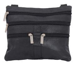 9fde8d12301c6 Leder Umhänge Tasche mit vielen Fächern. Lamm Nappa Leder.
