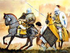 Byzantine Imperial Tagmata with an Akritoi frontier cavalryman