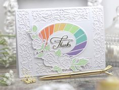 Papercraft With Crafty: Radiant Oval Etched Dies from Stained Glass Bouquet Collection by Becca Feeken