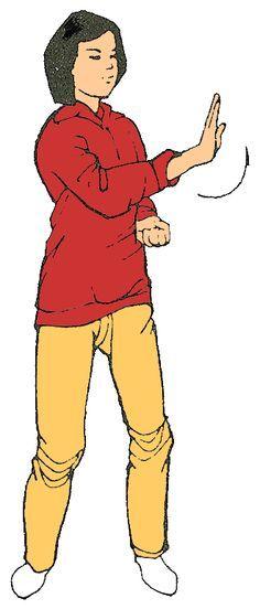9. Girar el cuerpo y empujar con la mano Trabaja sobre el hígado Alivia tensiones, mal humor y rabia