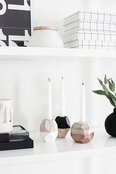 DIY Geometric Candle