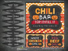 Chili Bar Make Your Own Chili Fall Party by BusyBeesHappenings