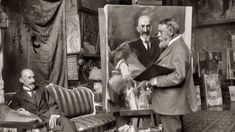 Sorolla retratando al dramaturgo Jacinto Benavente, 1917. Luis Marn. Fundación Pablo Iglesias.