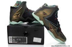 ?Armory Slate Black Metallic Nike Lebron 11 PS Shoes Pine Green Glow Dark 616175 700 Cheap