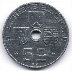 Belgium 5 Centimes 1942 Dutch - French Legend Veiling in de België,Europa (niet of voor €),Munten,Munten & Banknota's Categorie op eBid België