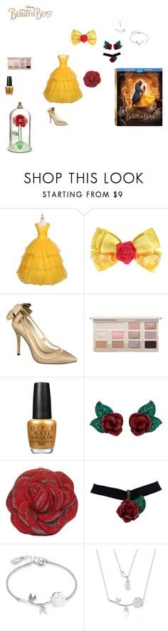 """""""contest Beauty and the beast 2k17"""" by effyswanhaze ❤ liked on Polyvore featuring Disney, Menbur, OPI, Atelier Swarovski, Judith Leiber, BeautyandtheBeast and contestentry"""
