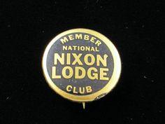 "1960 Richard Nixon for President 7/8"" Pinback Button Nixon Lodge National Club | eBay"