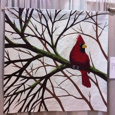 Cardinal - Lions Gate Quilt show by sonjaartisania, via Flickr