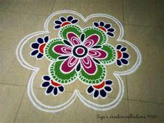 Rangoli Borders, Rangoli Border Designs, Beautiful Rangoli Designs, Kolam Designs, Mehndi Designs, Rangoli Ideas, Rangoli Designs Diwali, Kolam Rangoli, Flower Rangoli