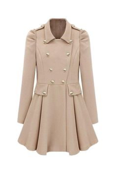 Pleats Cream-colored Trench Coat...GORGEOUS!