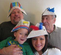 Newspaper hat tutorial 500 hats of Bartholomew Cubbins-challenging Dr Seuss Activities, Party Activities, Summer Activities, Origami Hat Instructions, Newspaper Hat, Dr Seuss Crafts, Origami Easy, Origami Paper, Preschool Crafts