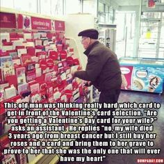 I'm crying right now! Faith in humanity restored Sweet Stories, Cute Stories, Cute Valentines Day Cards, Human Kindness, Touching Stories, Gives Me Hope, Faith In Humanity Restored, Karen, Cute Relationships