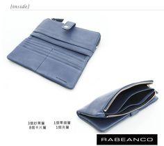 RABEANCO 迷時尚系列多格層拉鍊長夾 墨水藍 - Yahoo!奇摩購物中心