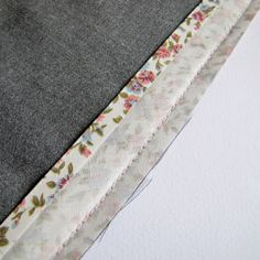 """Tutorial: How to sew on bias binding. Key is 1st stitch row in fold; flip biasover stitch row & press away from fabric; turn bias to front; sew toward edge of fabric """"below"""" 1st stitch line (not on it nor toward waistband side of stitch row)."""