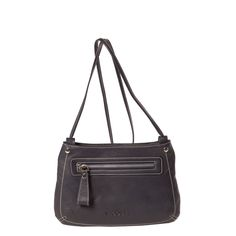 Small handbag with zipper. Metal parts in silver. Two zipped pockets, one front and one interior. Interior made of cloth. Can wear it crossed.  MEASURES (H x W x depths in cm)  16 x 24 x 4   COMPOSITION  100% Bovine