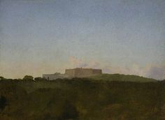 The Castel Sant Elmo from the Capodimonte, Naples 1856 Degas Oil on paper laid down on canvas ARTUK